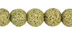 Moss Green Lava Rock Unwaxed Round 12mm