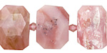 Pink Opal Faceted Flat Slab 14-17x20-24mm