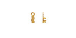 Gold (plated) Foldover Crimp End 8x2.5mm