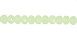 Spring Green Crystal Faceted Rondelle 6mm