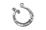 Zola Elements Antique Silver (plated) Tidepool Swirl Focal 24x26mm