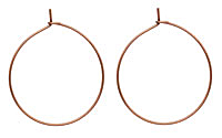 Antique Copper (plated) Hoop Earwire 30mm