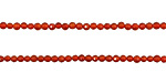 Carnelian Faceted Round 2mm