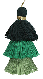 Forest Mix 3-Tiered Tassel 75mm