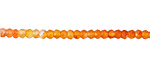 Carnelian (natural-ombre) Faceted Rondelle 2.5-3mm