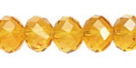 Sun Crystal Faceted Rondelle 14mm