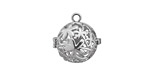 Silver Finish Bouquet Diffuser Locket 17x18mm