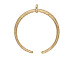 Zola Elements Matte Gold (plated) Delicate Etched Crescent Focal 31x33mm