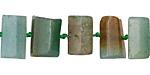 Blue Green Quartz Faceted Barrel 10-14x11-17mm