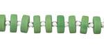Apple Green Recycled Glass Heishi 8mm