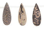 Artistic Stone (matte) Flat Teardrop 10x26mm