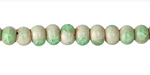 Bottle Green Crackle Porcelain Tumbled Rondelle 5x7mm