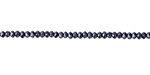 Hematite Crystal Faceted Rondelle 2mm