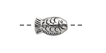 Pewter Fish 16x10mm