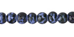 Night Sky Porcelain Tumbled Rondelle 7x9mm