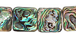 Abalone Flat Square 15mm