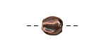 Greek Bronze (plated) Hammered Spacer Bead 11mm