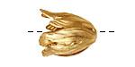 Brass Flourish Petal Bead Cap 22x14mm