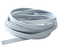 Icy Blue Microsuede Flat Cord 7mm