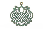 Zola Elements Patina Green Brass Lace Leaf Focal 27x29mm
