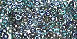 Czech Glass Emerald Celsian O-Bead 1x4mm