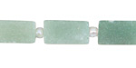 Green Aventurine (matte) Brick 15-16x8mm
