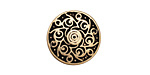 Zola Elements Antique Brass (plated) Twirling Disc 7mm Flat Cord Slide 18mm
