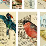 Nunn Design Birds Channel Bead Collage Sheet