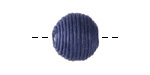 Marine Blue Thread Wrapped Bead 14mm