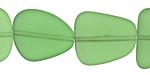 Shamrock Recycled Glass Flat Freeform 20-22x18-20mm