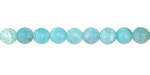 Brazil Amazonite (A) Faceted Round 5.5-6mm