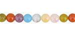 Multi-Color Agate Round 6mm