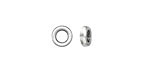 Zola Elements Antique Silver (plated) Large Hole Simple Spacer 3x8mm