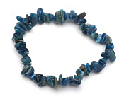 Pacific Blue Apatite Chips Stretch Bracelet
