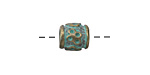 Zola Elements Patina Green Brass Butterflies Large Hole Bead 9-10mm