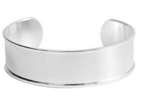 "Nunn Design Sterling Silver (plated) 3/4"" Channel Cuff Bracelet 65mm"