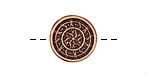 Antique Copper (plated) Radiant Sun Button 16mm