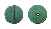 Natural Sea Green Leather Round Bead 20-22mm