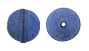 Natural Blue Leather Round Bead 20-22mm