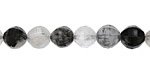 Tourmalinated Quartz Step Cut Round 8mm