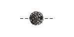Jet Hematite Pave Round 10mm (1.5mm hole)