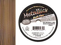 "Soft Flex Antique Brass .014"" (Fine) 21 Strand Wire 100ft."