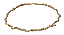 Nina Designs Natural Bronze Textured Branch Bangle Bracelet