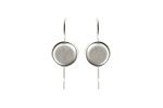 Nunn Design Sterling Silver (plated) Earring Wire Circle 8mm