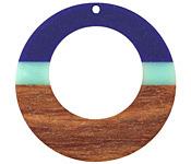 Walnut Wood & Nautical Resin Gypsy Hoop Focal 49mm