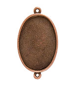 Nunn Design Antique Copper (plated) Grande Oval Bezel Link 49x28mm
