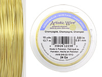Artistic Wire Silver Plated Champagne 26 gauge, 30 yards