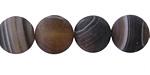 Espresso Line Agate (matte) Round 12mm