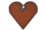 The Lipstick Ranch Rusted Iron Heart Pendant 30mm