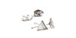 Nunn Design Sterling Silver (plated) Triangle Bezel Post Earring 6mm